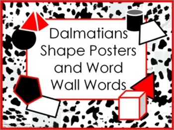 Shape Posters and Word Wall Words - Dalmatians