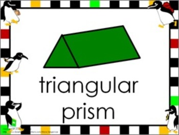 Shape Posters and Word Wall Words - Penguins