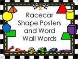 Shape Posters and Word Wall Words - Race Car