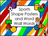 Shape Posters and Word Wall Words - Sports