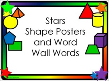 Shape Posters and Word Wall Words - Stars