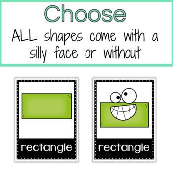 Shape Posters for the Classroom 2D and 3D