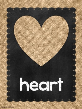 Shape Posters in Chalkboard and Burlap