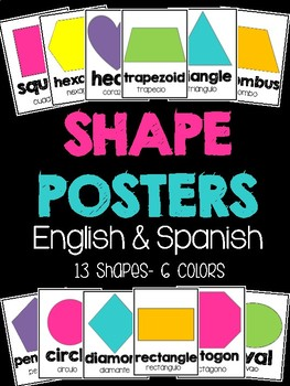 Shape Posters in English and Spanish