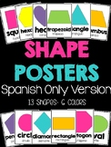 Shape Posters in Spanish Only