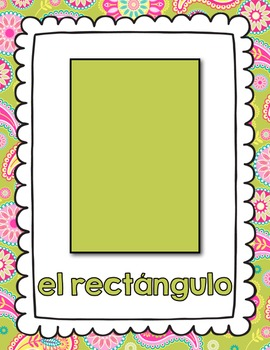 Shape Posters in Spanish (Paisley)