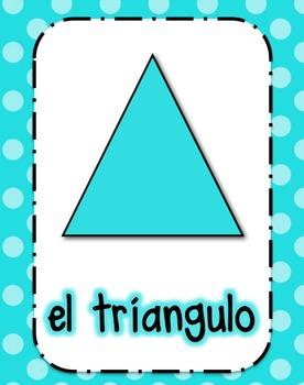 Shape Posters in Spanish (Polka Dot)