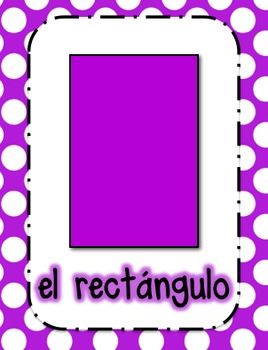 Shape Posters in Spanish (Polka Dot)