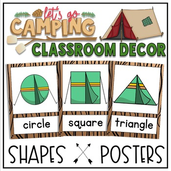 Shape Posters in a Camping Classroom Decor Theme