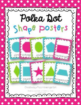 Shape Posters {polka dots}