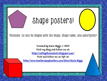 Shape Posters- traditional font