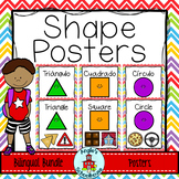 Shape Posters with Real World Objects Bilingual Bundle