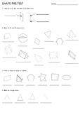 Shape Pre-Test Triangles Prisms Pyramids Properties 2D 3D Nets
