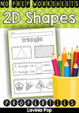 Shape Properties No Prep Worksheets