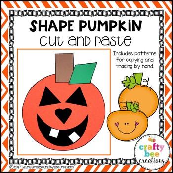 Shape Pumpkin Cut and Paste