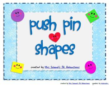 Shape Push Pin Activities