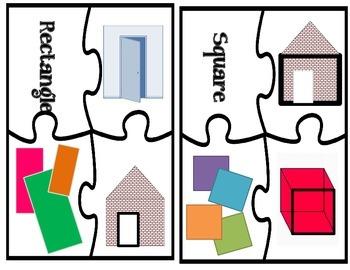 Shape Puzzle & Bonus Worksheets / Math Center