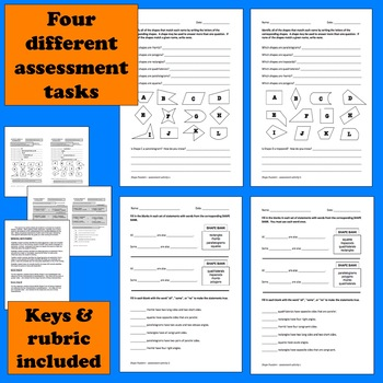 Shape Puzzlers - reasoning about 2-d shape classification task cards/printables