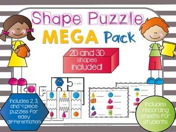 Shape Puzzles--2D and 3D