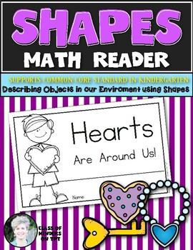 Shape Reader {HEART} Kindergarten & First Grade Reading & Math