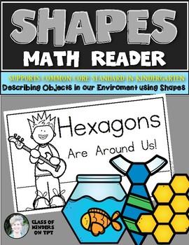 Shape Reader {HEXAGON} Kindergarten & First Grade Reading & Math