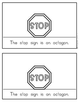 Shape Reader {OCTAGON} Kindergarten & First Grade Reading & Math