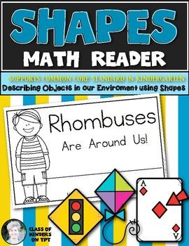 Shape Reader {RHOMBUS} Kindergarten & First Grade Reading & Math
