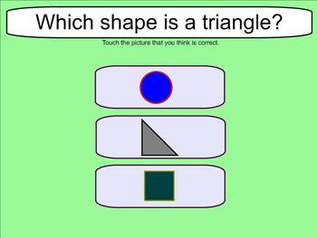 Shape Recognition - Circles, Squares, and Triangles - Smartboard