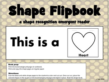 Shape Recognition Flipbook