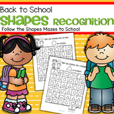 Shapes Recognition Printables - Follow the Shapes Maze to School