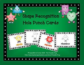 Shape Recognition Hole Punch Cards | Distance Learning