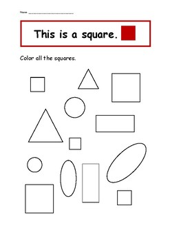 shape recognition worksheet printable by love for homeschooling tpt. Black Bedroom Furniture Sets. Home Design Ideas