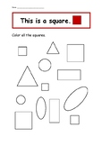 Shape Recognition Worksheet Printable