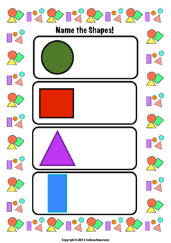Shape Recognition and Naming Worksheet (CCSS.MATH.CONTENT.K.G.A.2)