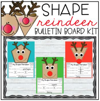 Shape Reindeer Bulletin Board Kit