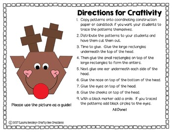 Shape Reindeer Cut and Paste