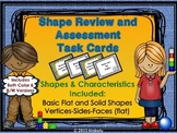 Shape Review and Assessment Task Cards (Flat and Solid Shapes)