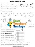 Shape Revision / Assessment (3 levels of difficulty) for 2nd / 3rd Grade