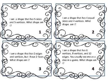 Shape Riddle Task Cards