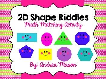 Shape Riddles - Math Matching Activity