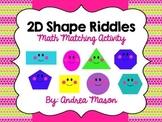 Shape Riddles - Math Matching Activity {Dollar Spot}
