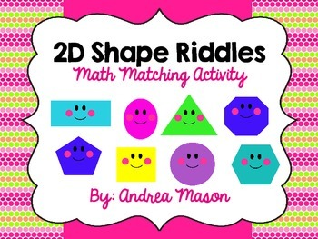 Shape Riddles - Math Matching Activity