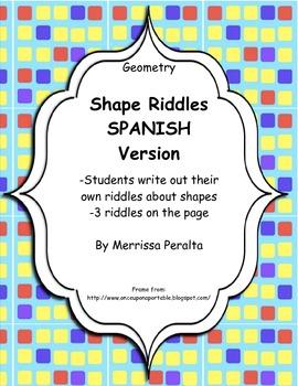 Shape Riddles *Spanish Version