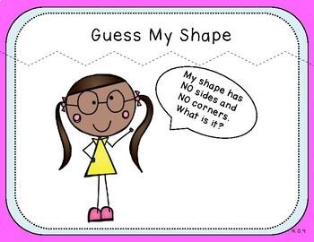 Shape Riddles Teacher Slides (Kindergarten, K.G.4)