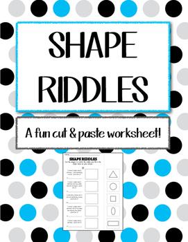 "Math Worksheet - ""Shape Riddles"""