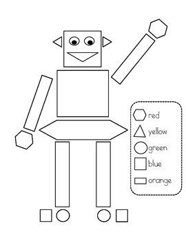 Shape Robot Color Page