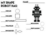 Shape Robot Counting Sheet