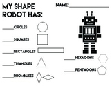 Shape Robot Counting Sheet