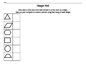 Shape Roll, Drawing Shapes with a Template