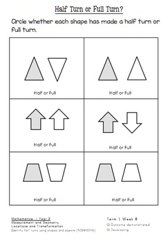 Shape Rotation warm up and follow-up printables ACMMG046
